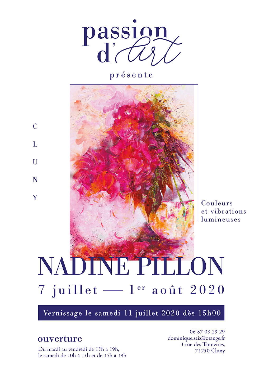 AFFICHE exposition NADINE PILLON