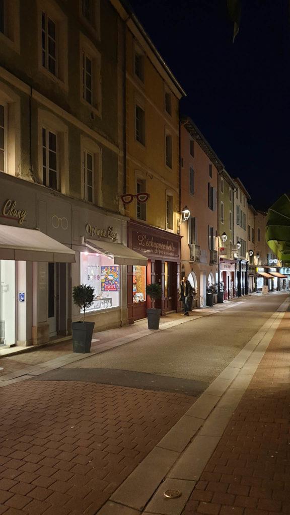 rue de Cluny de nuit