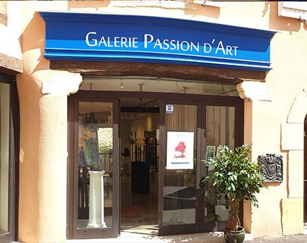 vitrine galerie passion d'art