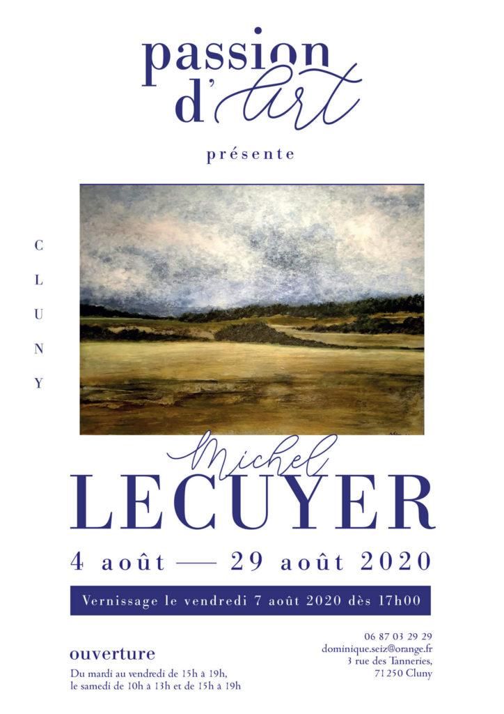 AFFICHE exposition Aout 2020 Michel Lecuyer