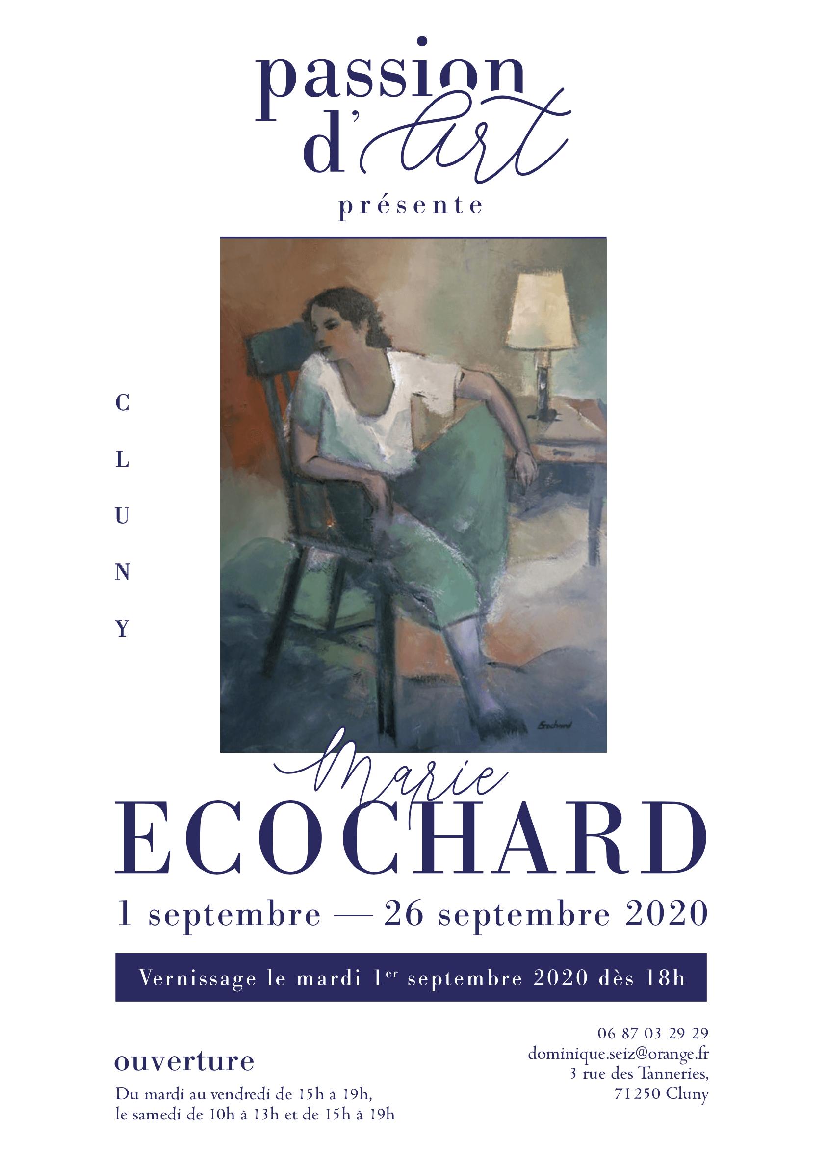 Affiche Exposition Septembre Marie Ecochard