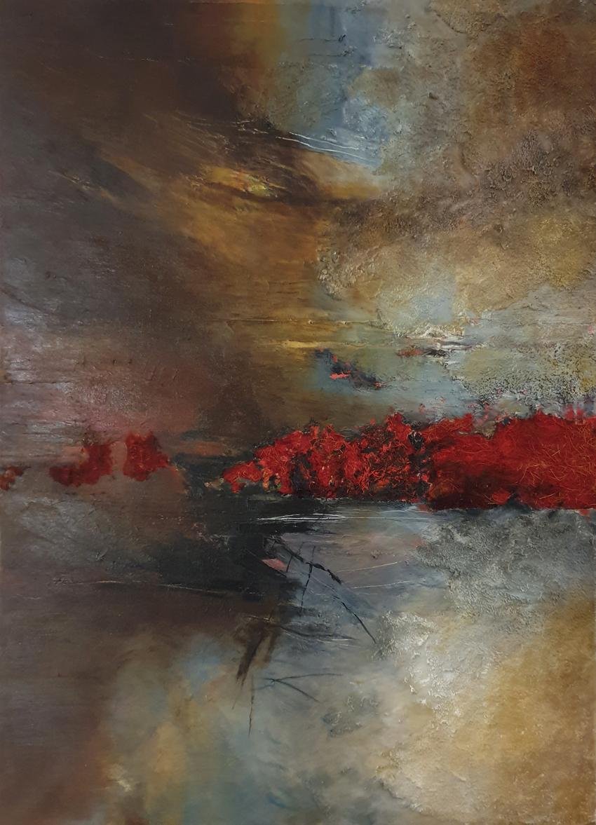 Acrylique sur toile ''Orage'' 950€