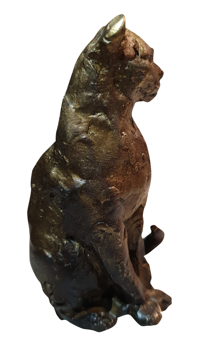 Chat assis bronze 320€