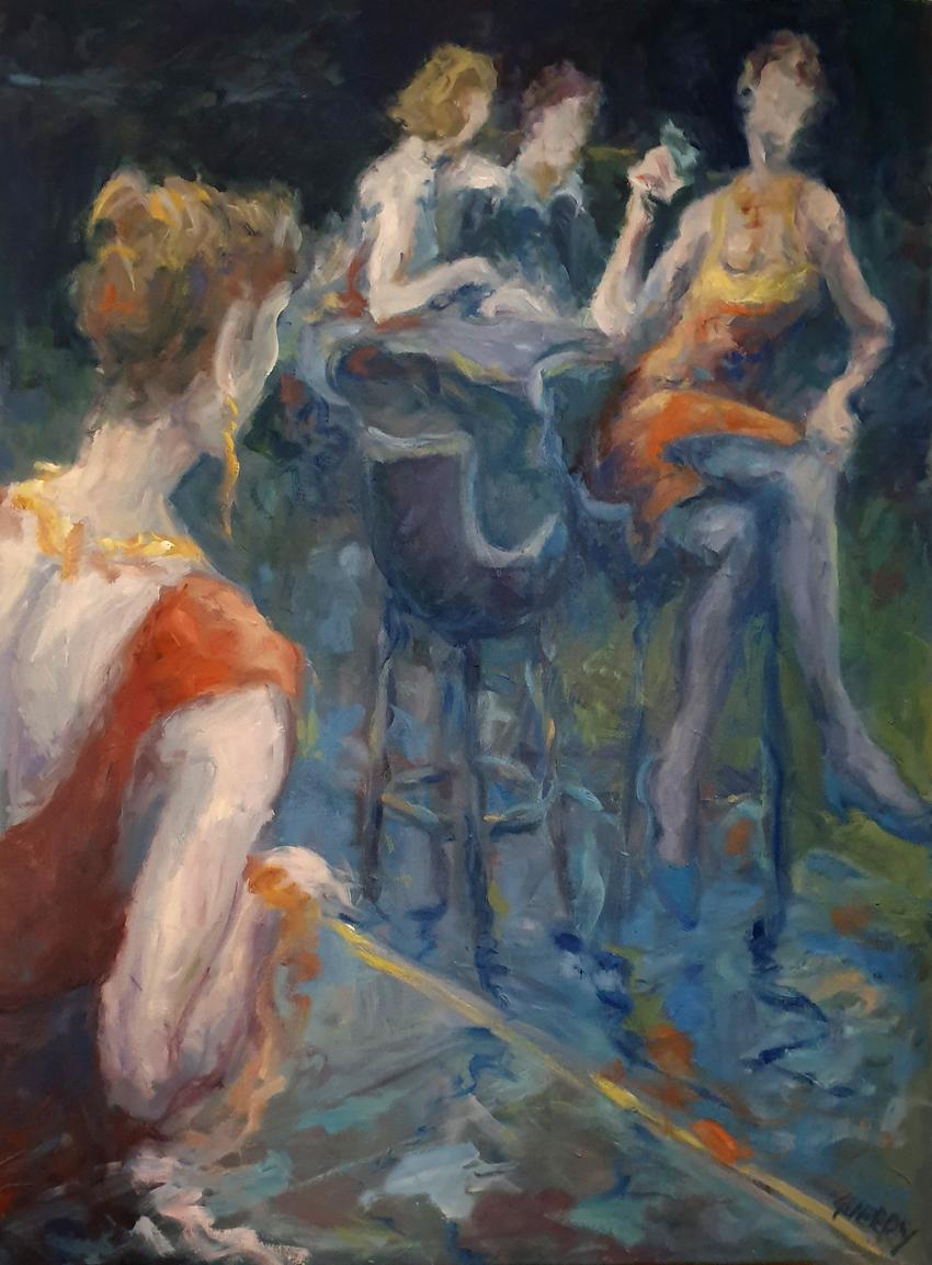 Huile sur toile ''l'amour des autres '' 750€