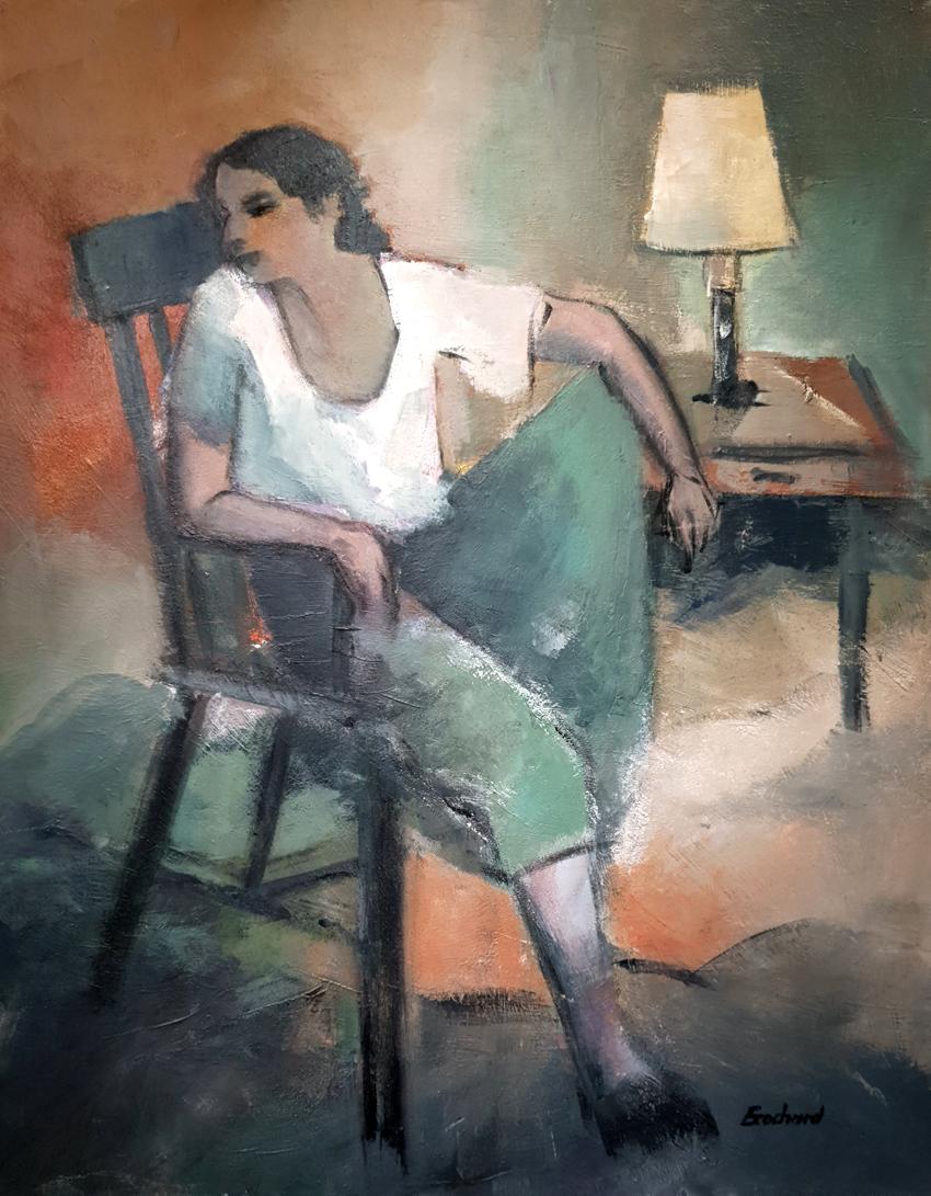 Femme sur fauteuil 810€