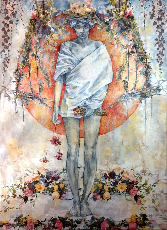 Collage Fusain Pastel Encre 980€