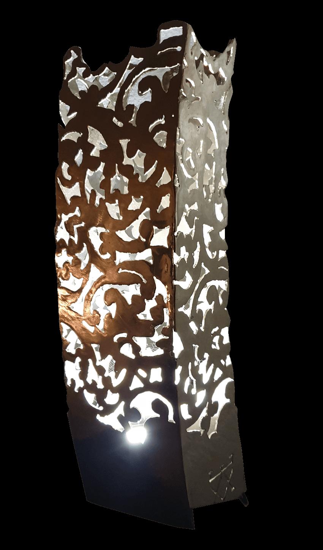 ''Petite Colone'' Luminaire Acier Nickelé 580€