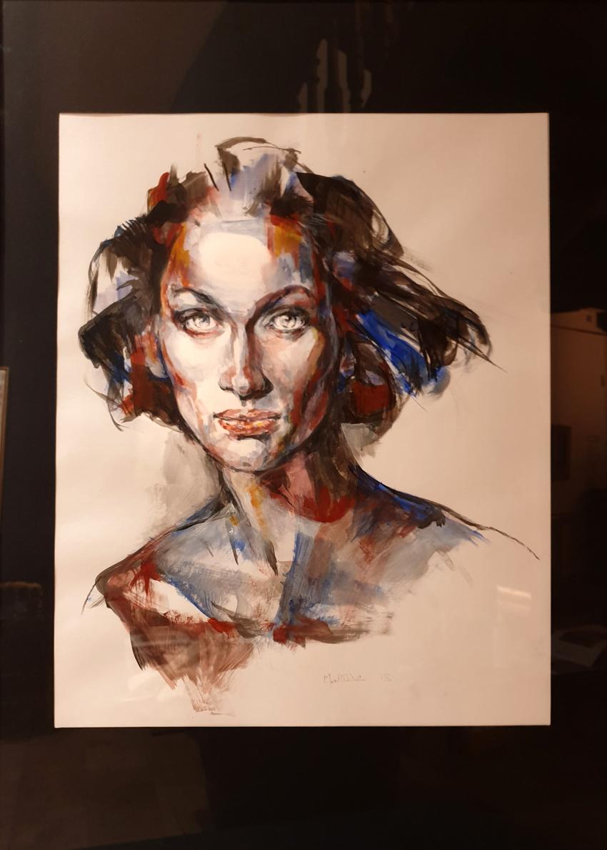 Portrait Amérique Encre Fusain 520€
