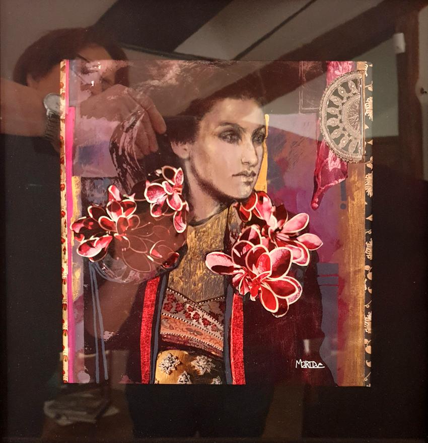 Série Japon Encre collage pastel 390€