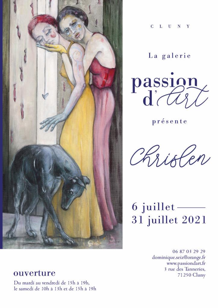 exposition chrislen galerie passion dart juillet 2021