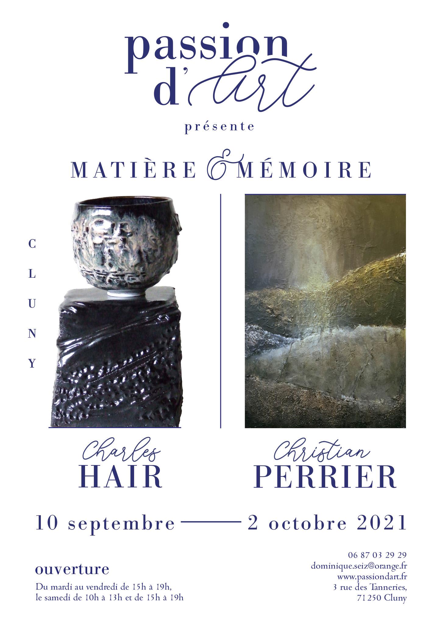 EXPOSITION matière et memoire - septembre2021